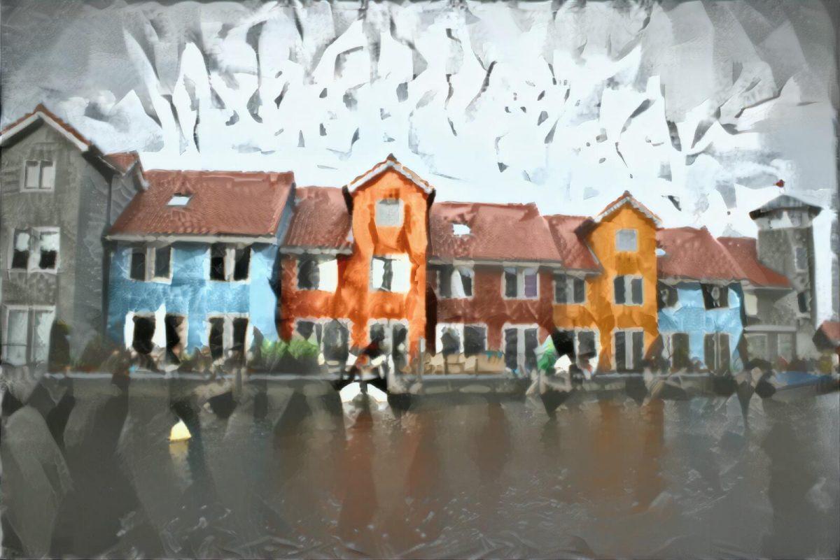 Modern Schilderij Reitdiephaven Groningen