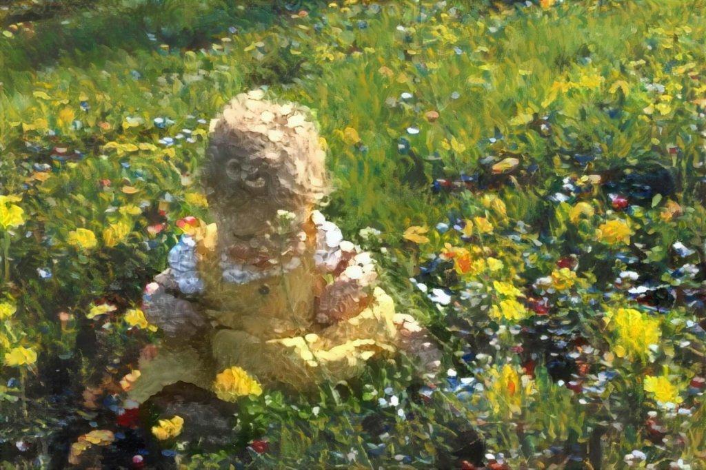 Slim kunstwerk op basis van foto van kind