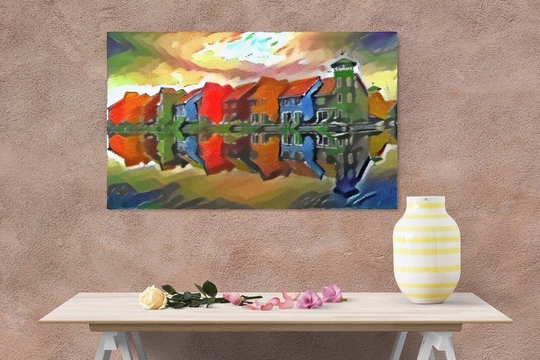 Reitdiephaven Kandinsky aan bruine muur