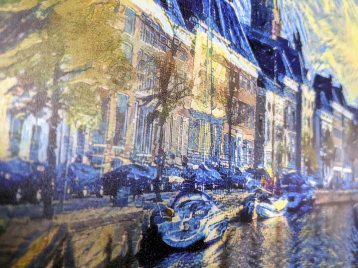 Hoge Der Aa in abstracte stijl met behoud van detail