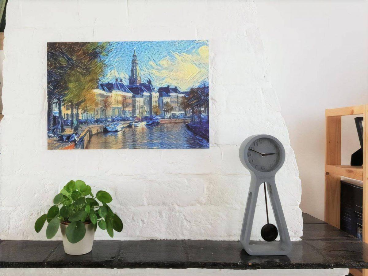 Hoge Der Aa in de stijl van Van Gogh: een compositie (forex)