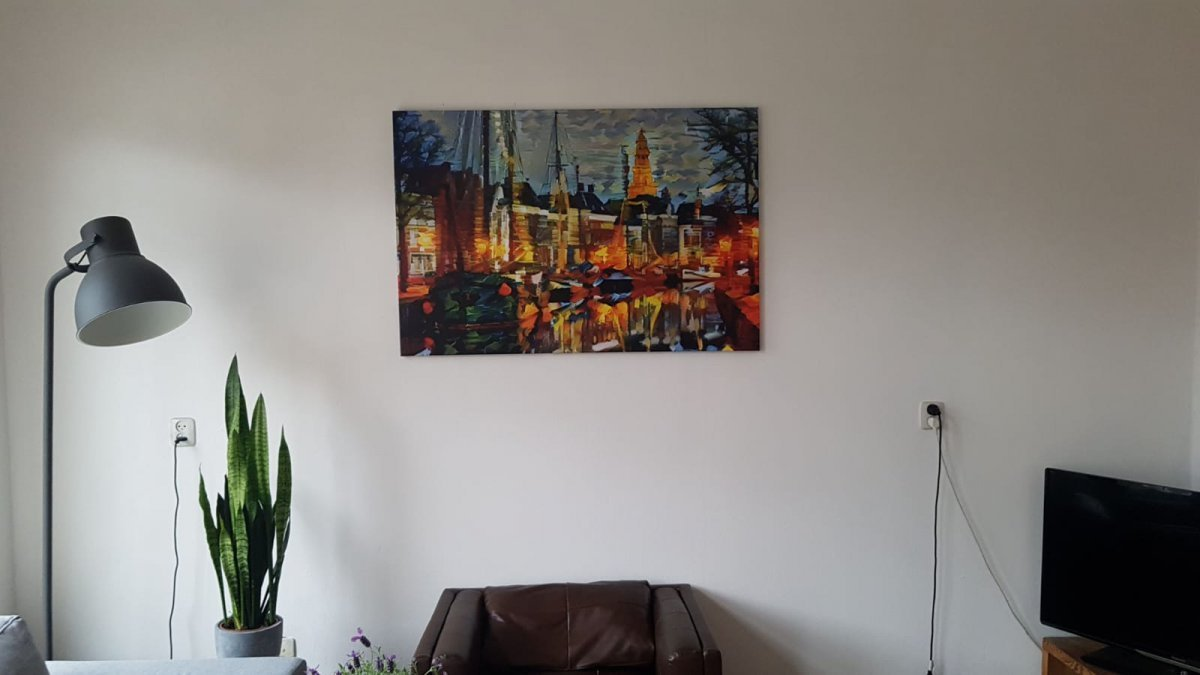 Canvas in woonkamer