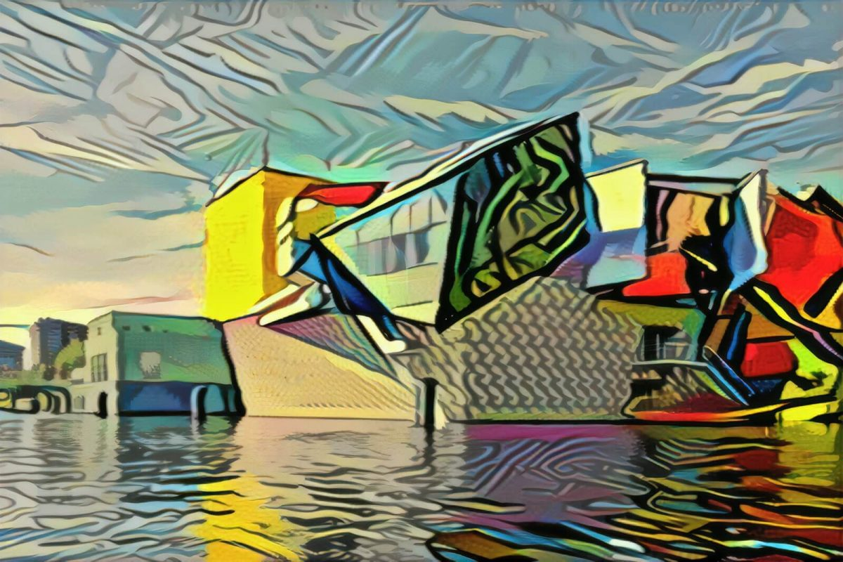 Groninger Museum in de stijl van Picasso