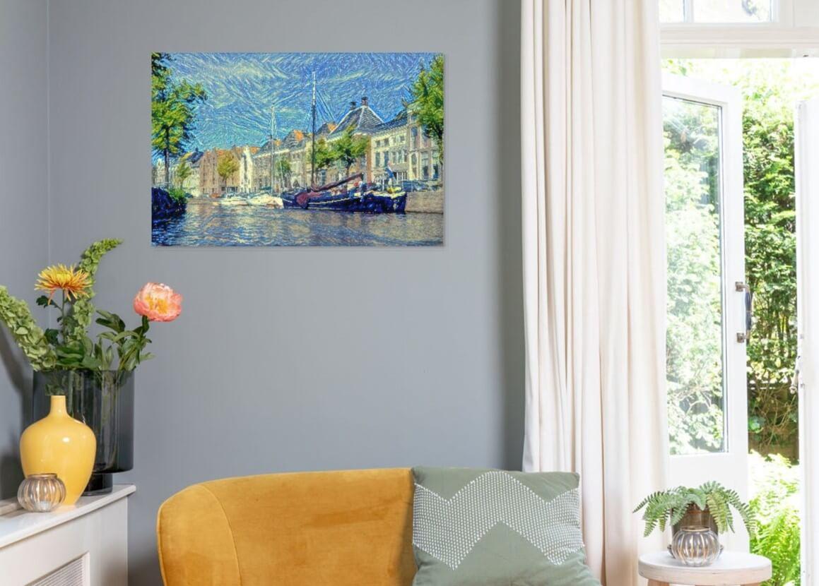 Een kleurrijk kunstwerk van de Hoge Der Aa aan uw muur