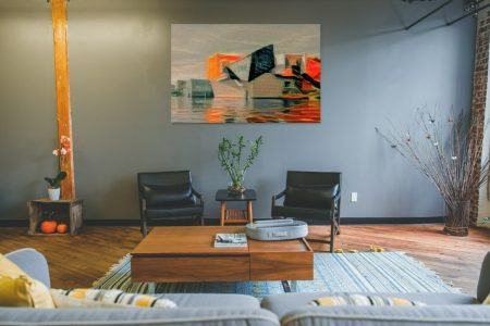 Sfeerimpressie in stijlvolle woonkamer