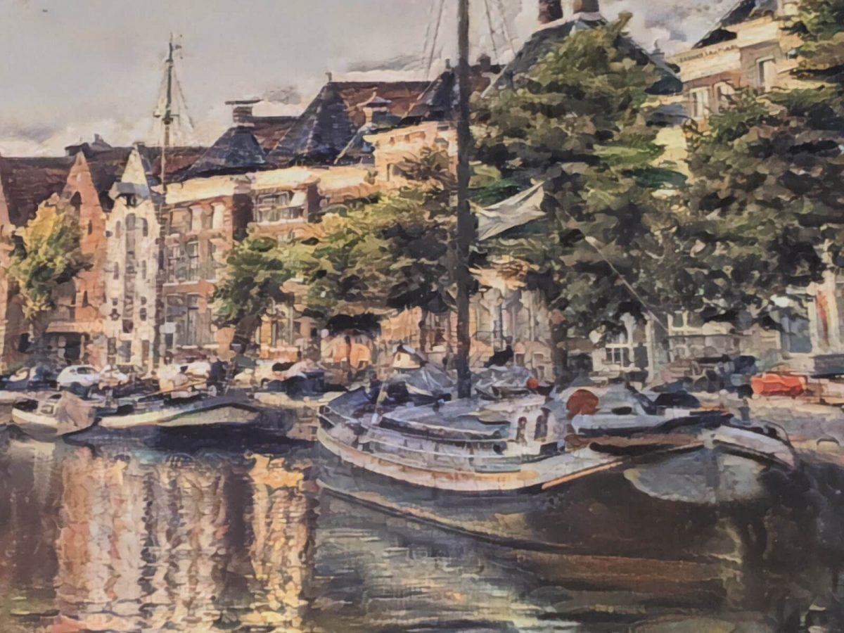 Klassiek Schilderij Hoge Der A Groningen op Forex ingezoomd