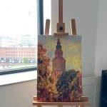 Herfst Schilderij Martinitoren Groningen