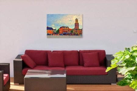 Mockup Schilderij Zwolle Kleurrijk Rodetorenplein