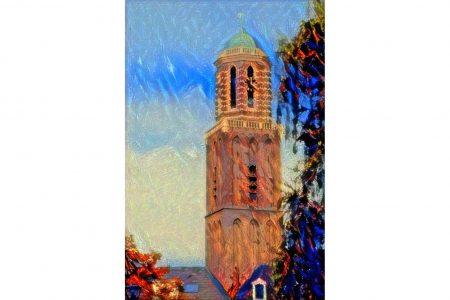 Sfeervol Schilderij Zwolle Peperbus