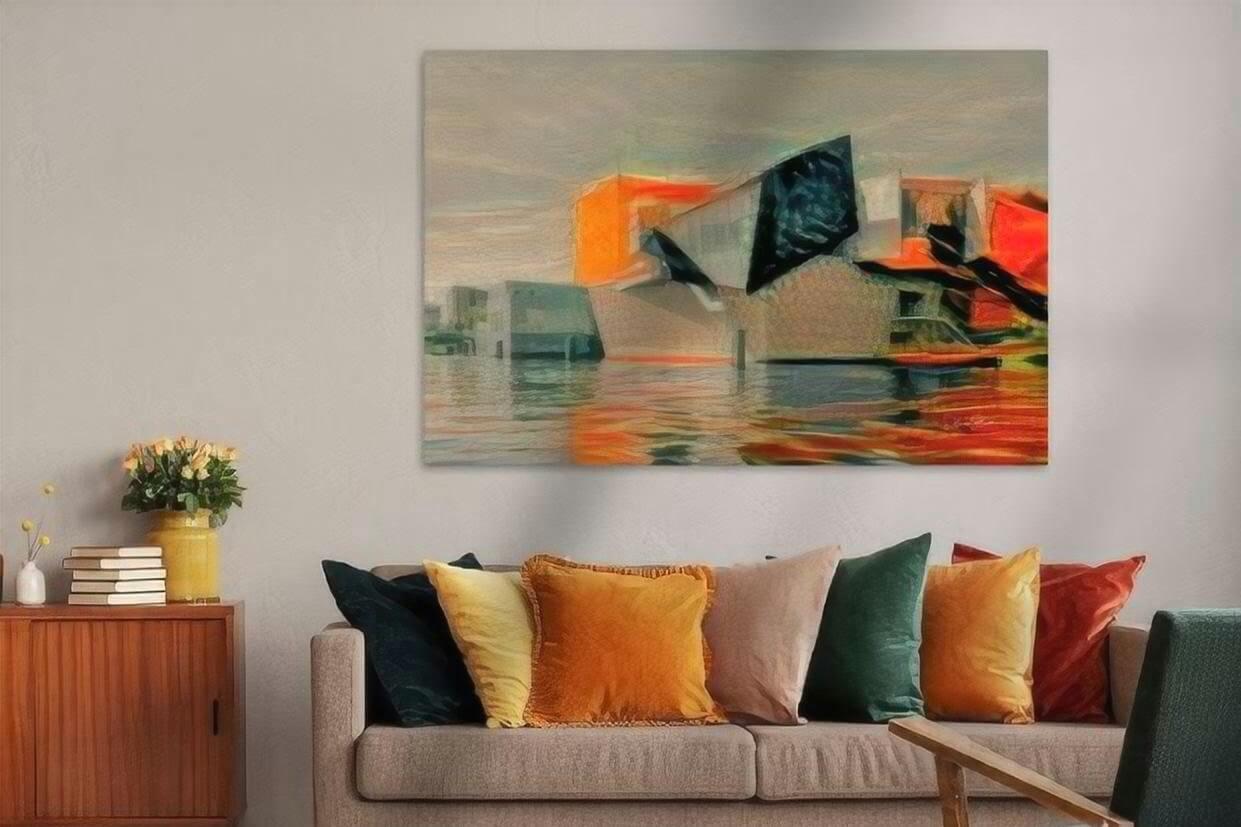Kunst Groningen schilderij GroningerMuseum in de stijl van Munch sfeerimpressie