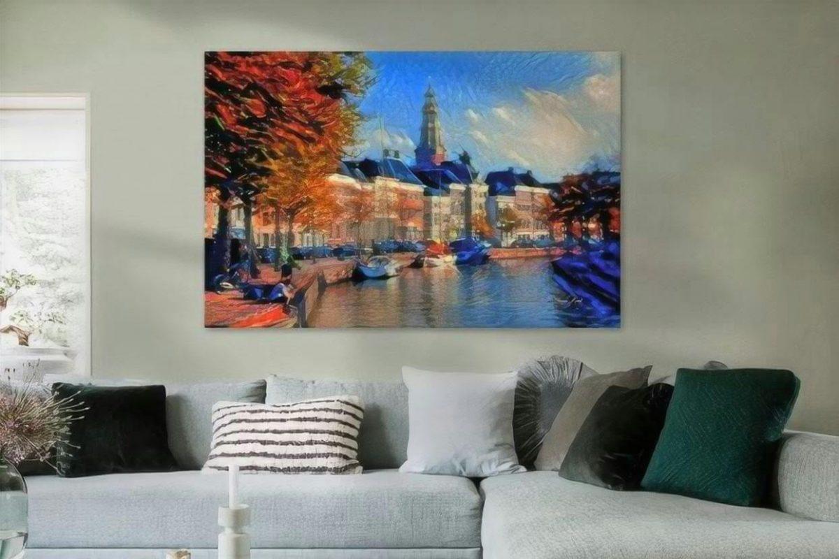 Sfeervol Schilderij Hoge der A Groningen kunst sfeerimpressie