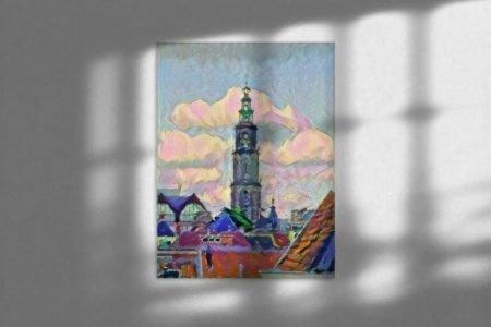 Vrolijk kunst Groningen van de Martinitoren sfeerimpressie