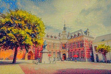 Impressionistisch Schilderij Utrecht Academiegebouw