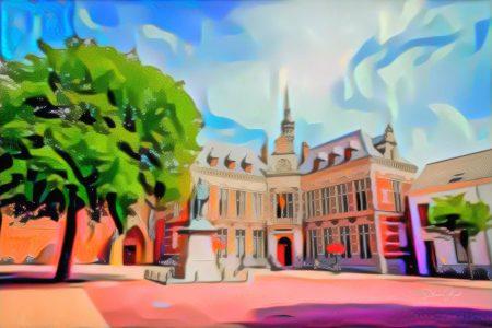 Pop Art Schilderij Utrecht Academiegebouw