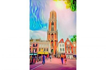 Pop Art Schilderij Utrecht Domtoren