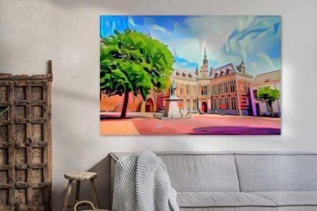 Sfeerimpressie Pop Art Schilderij Utrecht Academiegebouw