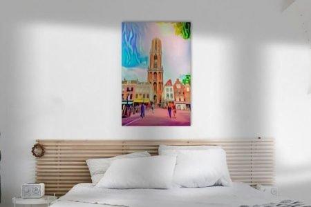 Sfeerimpressie Pop Art Schilderij Utrecht Domtoren