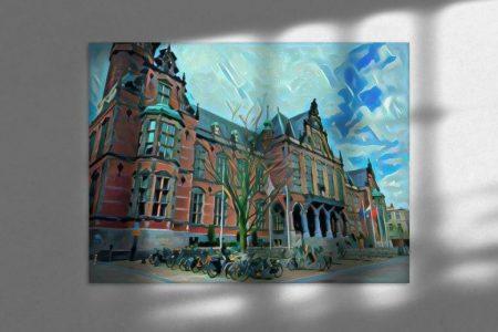 Sfeerimpressie Modern Schilderij Academiegebouw Groningen