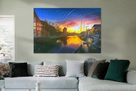 Sfeerimpressie Schilderij Zwolle Gracht